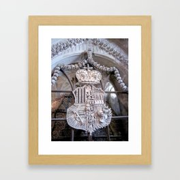 Bone Church Shield Framed Art Print