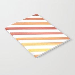 Orange Stripes Notebook