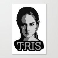 divergent Canvas Prints featuring Divergent: Tris by Flash Goat Industries