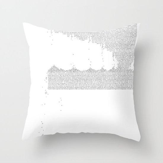 Erosion & Typography 3 Throw Pillow