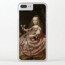 Dirck van Santvoort- Portrait of Clara Alewijn Clear iPhone Case