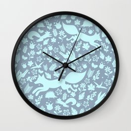 Finnish forest - Winter is here! Wall Clock