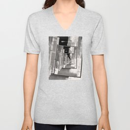 Reflections of An Infrared Alley Unisex V-Neck