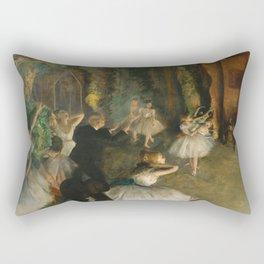 "Edgar Degas ""The Rehearsal of the Ballet Onstage"" Rectangular Pillow"