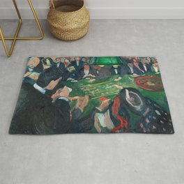 At the Roulette Table in Monte Carlo by Edvard Munch Rug