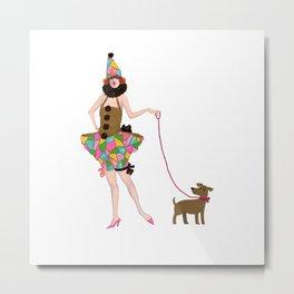walk the walk puppydog and me Metal Print