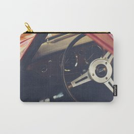 Triumph spitfire, english sports car fine art photography, classy man cave print Carry-All Pouch