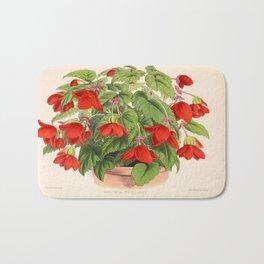 Red Begonias Bath Mat