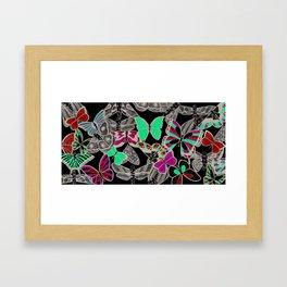 Pipettu - Moths and Butterflies (Spread 10 of 10) Framed Art Print