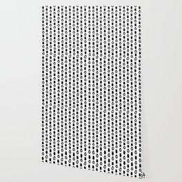 Alien Eggs Pattern White and Black Wallpaper