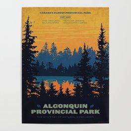 Vintage Algonquin Canada Travel Poster Poster