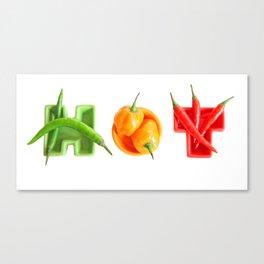 hot chillies Canvas Print