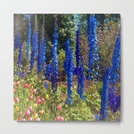 Delphinium Garden Metal Print