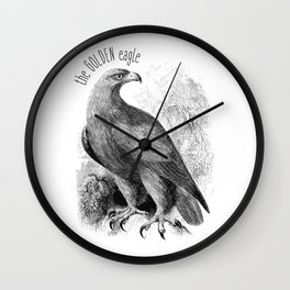 The Golden Eagle Wall Clock