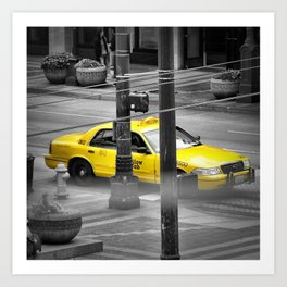 Yellow Cab Art Print
