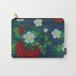 Strawberries and Daisies - Strawberry Patch  - Fruit Carry-All Pouch