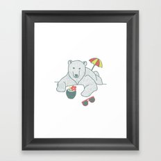 White Summer Framed Art Print