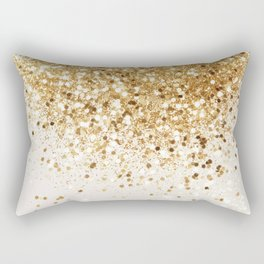 Sparkling Gold Glitter Glam #2 #shiny #decor #art #society6 Rectangular Pillow