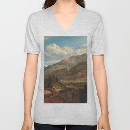 william turner Chateau de St. Michael, Bonneville, Savoy - 1803 Unisex V-Neck