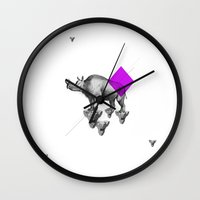 psychology Wall Clocks featuring Archetypes Series: Solitude by Attitude Creative