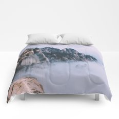 Mountains #fog #society6 Comforters