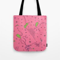 girly Tote Bags featuring Girly by Amanda Trader
