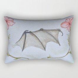 Bat Wing Floral Rectangular Pillow