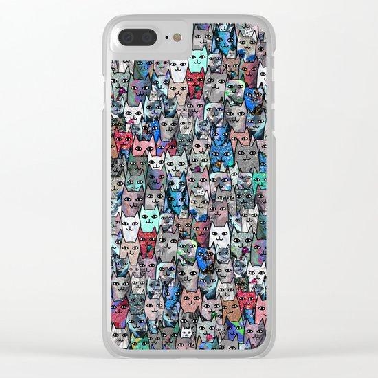 Gemstone Cats RGB Clear iPhone Case
