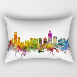 Charlotte North Carolina Skyline Rectangular Pillow