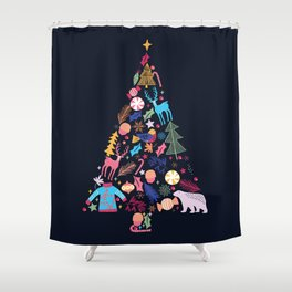 Magic of a christmas tree Shower Curtain