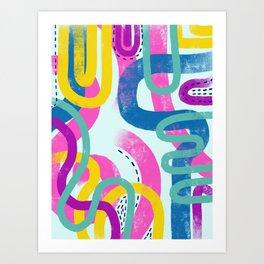 Fun bright abstract art Art Print