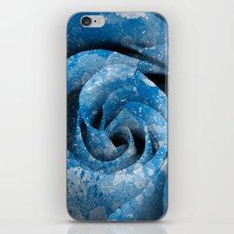Blue Acrylic Rose iPhone Skin