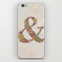ampersand iPhone & iPod Skins featuring Ampersand by Valentina Harper