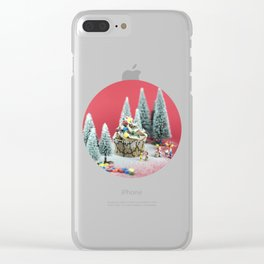 Christmas cupcake Clear iPhone Case