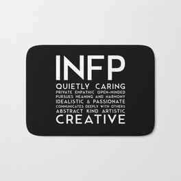 INFP (black version) Bath Mat