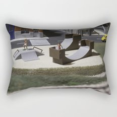 Miniature skatepark Rectangular Pillow