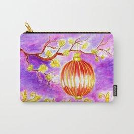 Oriental lantern Purple sky Carry-All Pouch
