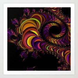 colors snake Art Print