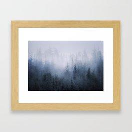 Misty fantasy forest. Framed Art Print