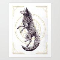 Shades of the moon Art Print