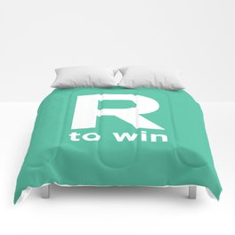 R to win Comforters
