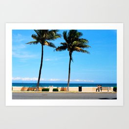 palm beach couple Art Print