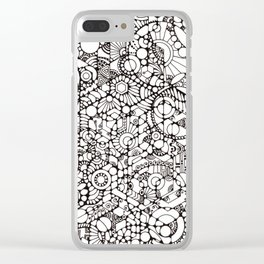 Phosphenes Schematic Clear iPhone Case
