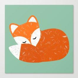 Cute sleeping fox   Canvas Print
