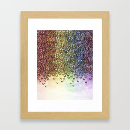 rainbow of butterflies aflutter Framed Art Print