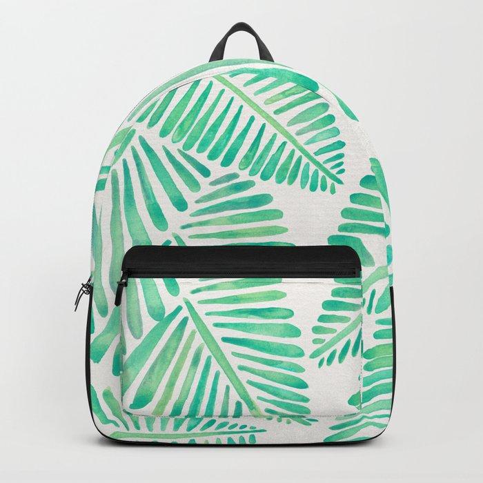 Tropical Banana Leaves – Mint Palette Backpack