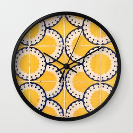 Portuguese Pattern Wall Clock