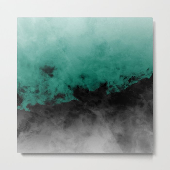 Zero Visibility Emerald Metal Print