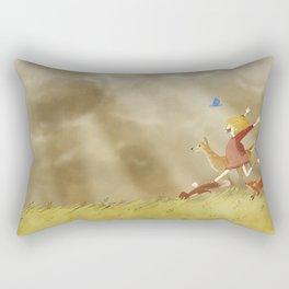 Run! Rectangular Pillow