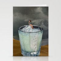 drink Stationery Cards featuring DRINK by Beth Hoeckel